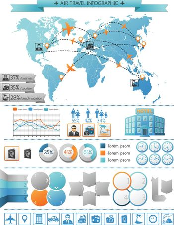 Air Travel Infographic Concept