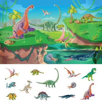 Animals Jurassic Concept