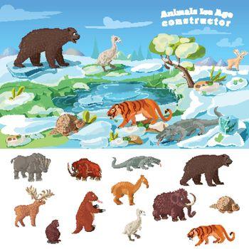 Animals Ice Age Concept