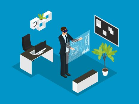 Isometric Business People Concept
