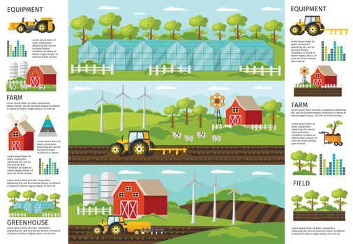 Farming And Agriculture Infographic Banners