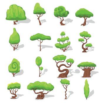 Fantasy Green Trees Set