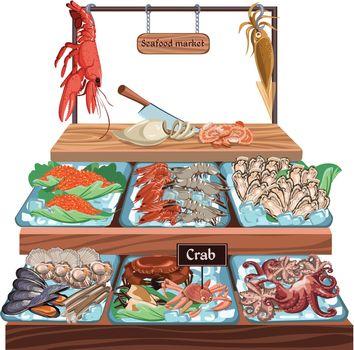 Seafood Market Concept