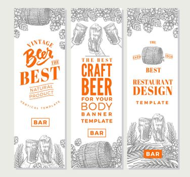 Brewing Vertical Banners