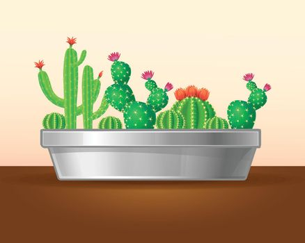 Decorative Green Plants Concept