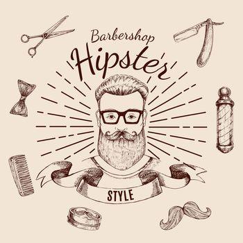 Barbershop Hipster Style Design