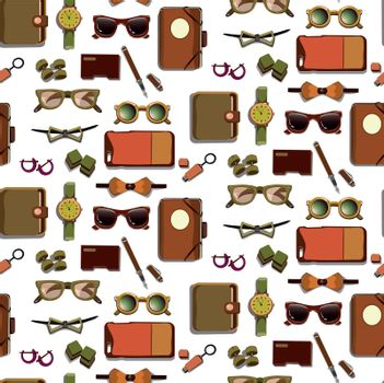 Fashionable Hipster Accessories Seamless Pattern