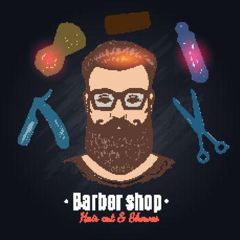 Barber Shop Hand Drawn Illustration