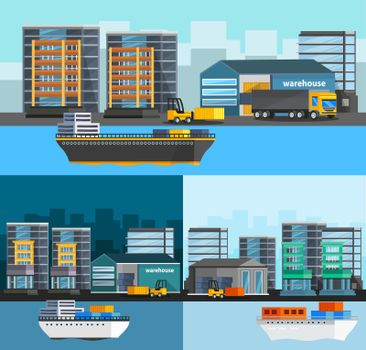 Sea Port Orthogonal Compositions Set