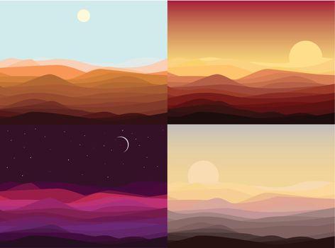 Desert Landscape Templates Set