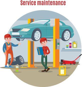 Car Maintenance Service Concept