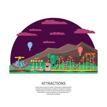 Amusement Park Or Funfair Concept