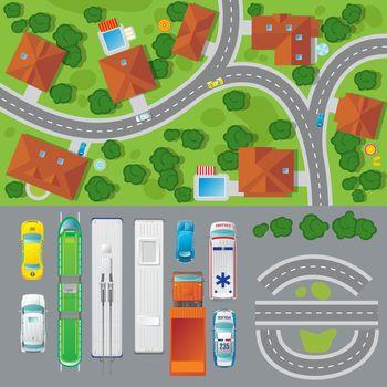 City Landscape Top View Concept
