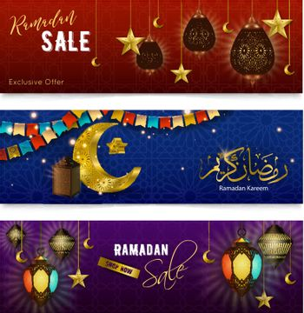 Ramadan Kareem Realistic Banners