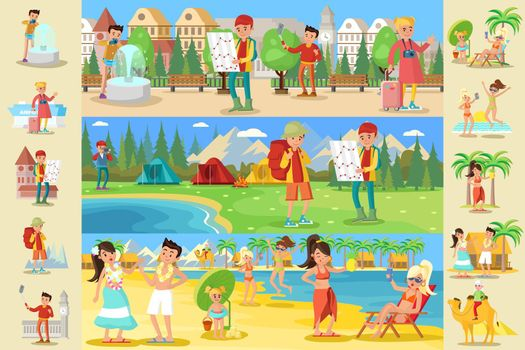 Traveling People Infographic Concept