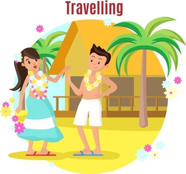 Summer Tropical Beach Rest Concept