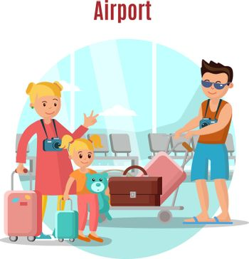 People In Airport Concept