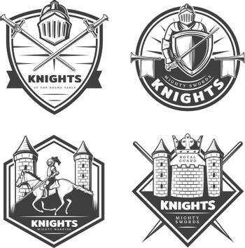 Vintage Medieval Emblems Set