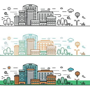 Linear Cityscape Concept