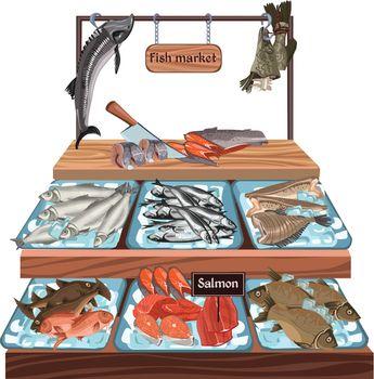 Sketch Seafood Market Concept