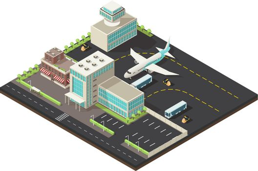 Isometric Airport Exterior Concept