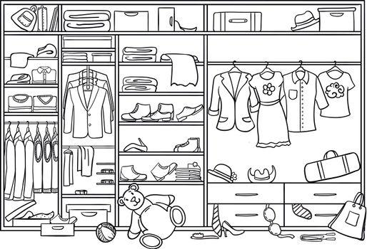 Doodle Family Wardrobe Mess Concept