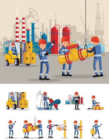 Oil Industry Characters Concept