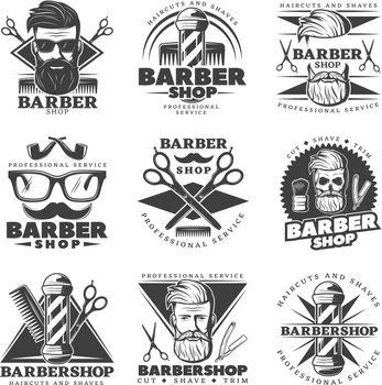 Vintage Barber Hipster Labels