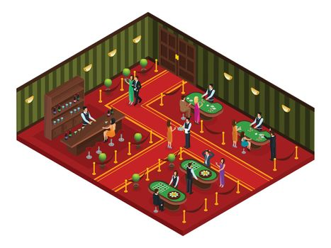 Isometric Casino Gaming Room Concept