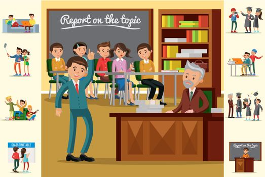 Colorful Education Concept