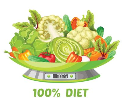Light Vegetable Diet Concept