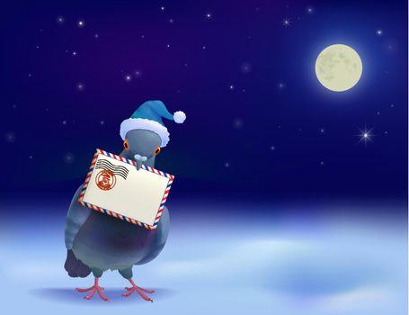 Christmas Post Pigeon