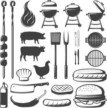 BBQ Decorative Icons Set
