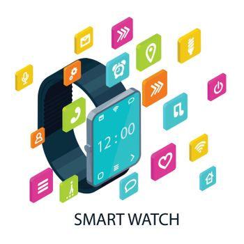 Isometric Portable Smart Watch Concept
