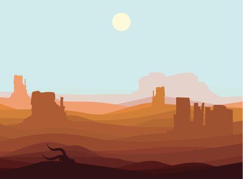 Western Desert Landscape Background