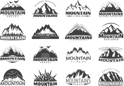 Mountain Travel Labels