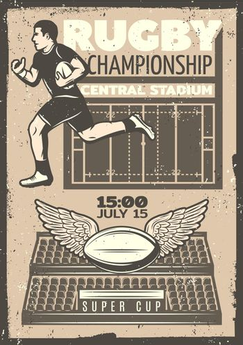 Vintage Rugby Competition Poster