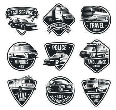 Urban Transport Logotype Set