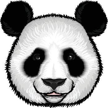 Cute Fluffy Panda Face