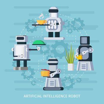 Artificial Intelligence Robot Concept