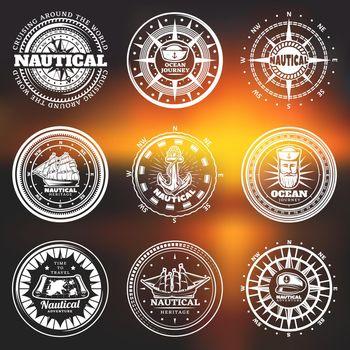 Vintage White Nautical Round Labels