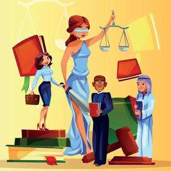 Court and legislation symbols vector illustration