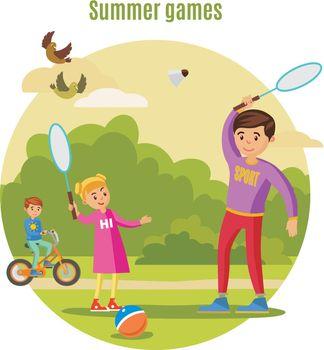 Summer Active Leisure Concept