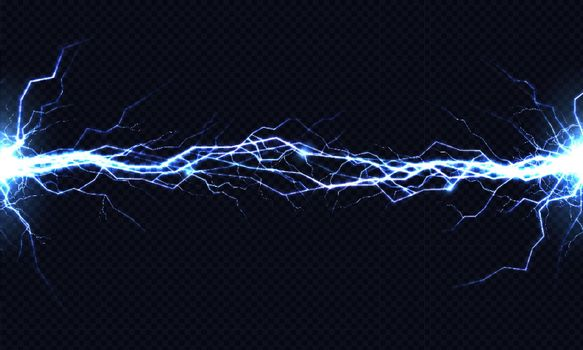 Electrical energy discharge 3d vector light effect