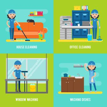 Cleaning Company Flat Composition