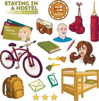 Hostel Elements Set