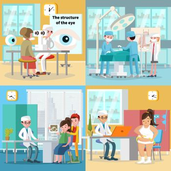Medical Care Square Concept