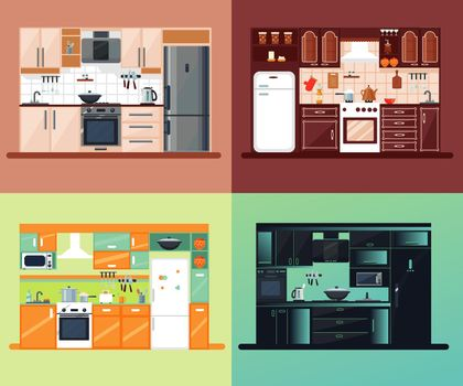 Kitchen Interior Square Composition