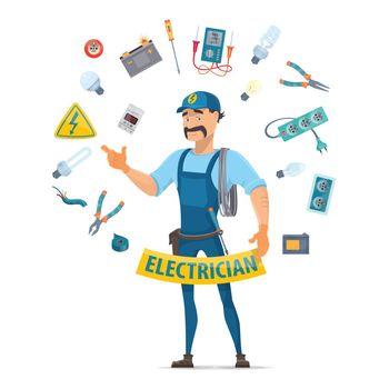 Colorful Electricity Elements Concept
