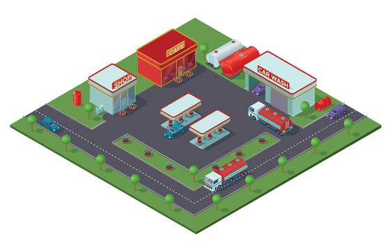 Isometric Gas Station Concept